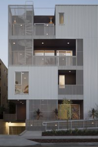 Cloverdale, Cloverdale749, multi-family, multifamily, steel, metal wall, perforated wall, modern design, modern architecture, metal architecture,