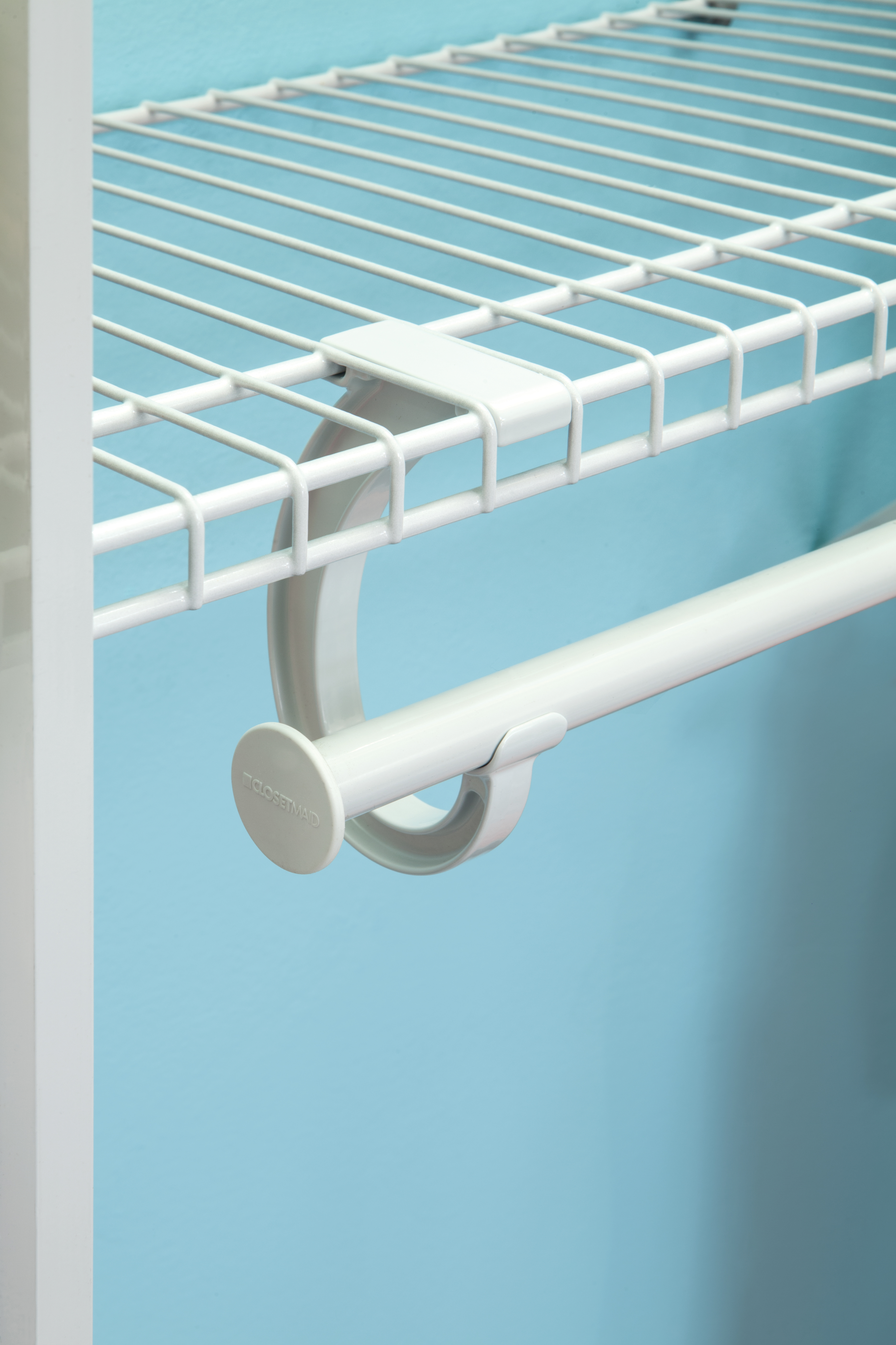 New SuperSlide® Metal Closet Rod Support In White