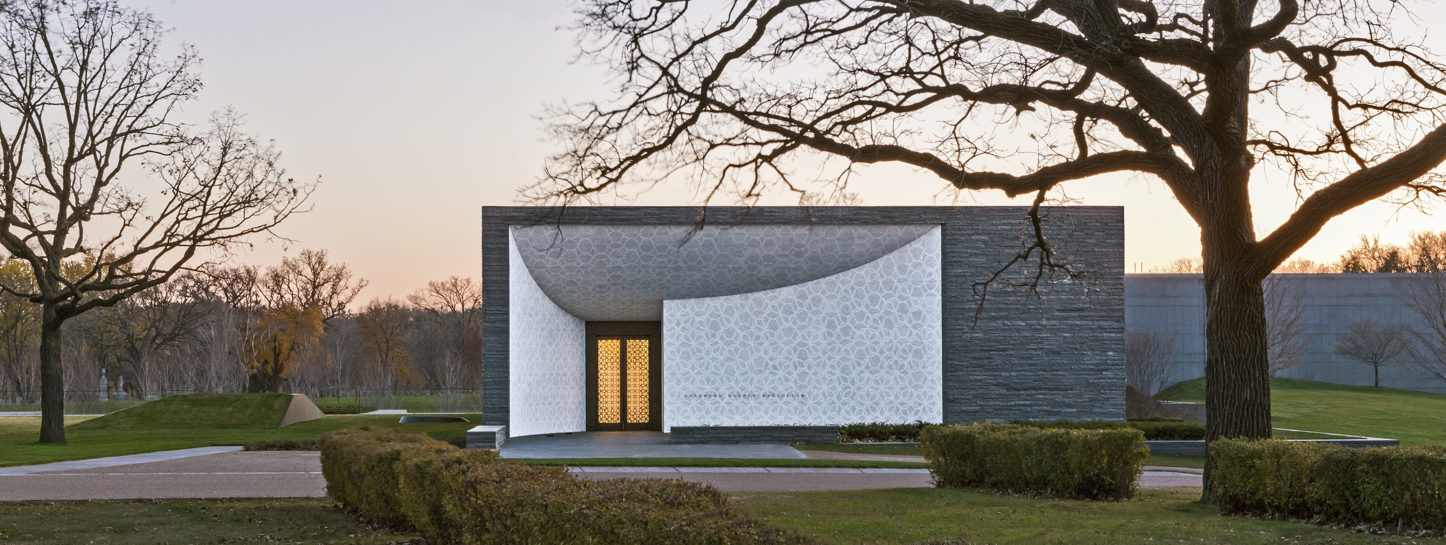 Photo Credit: Paul Crosby & New Mausoleum at Lakewood Cemetery Features Seven Balanced Doors ... Pezcame.Com
