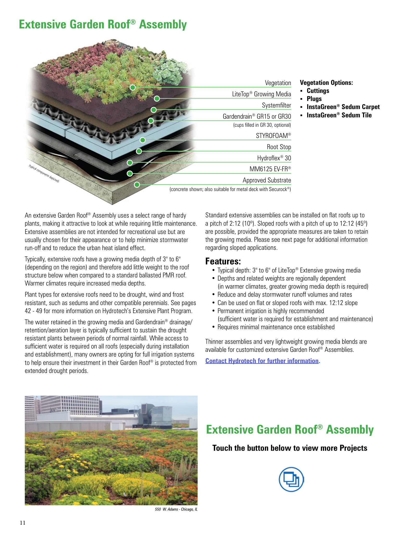 American Hydrotech Launches Ipad App For Planning Vegetative Roofs Larsono Brien Pressroom