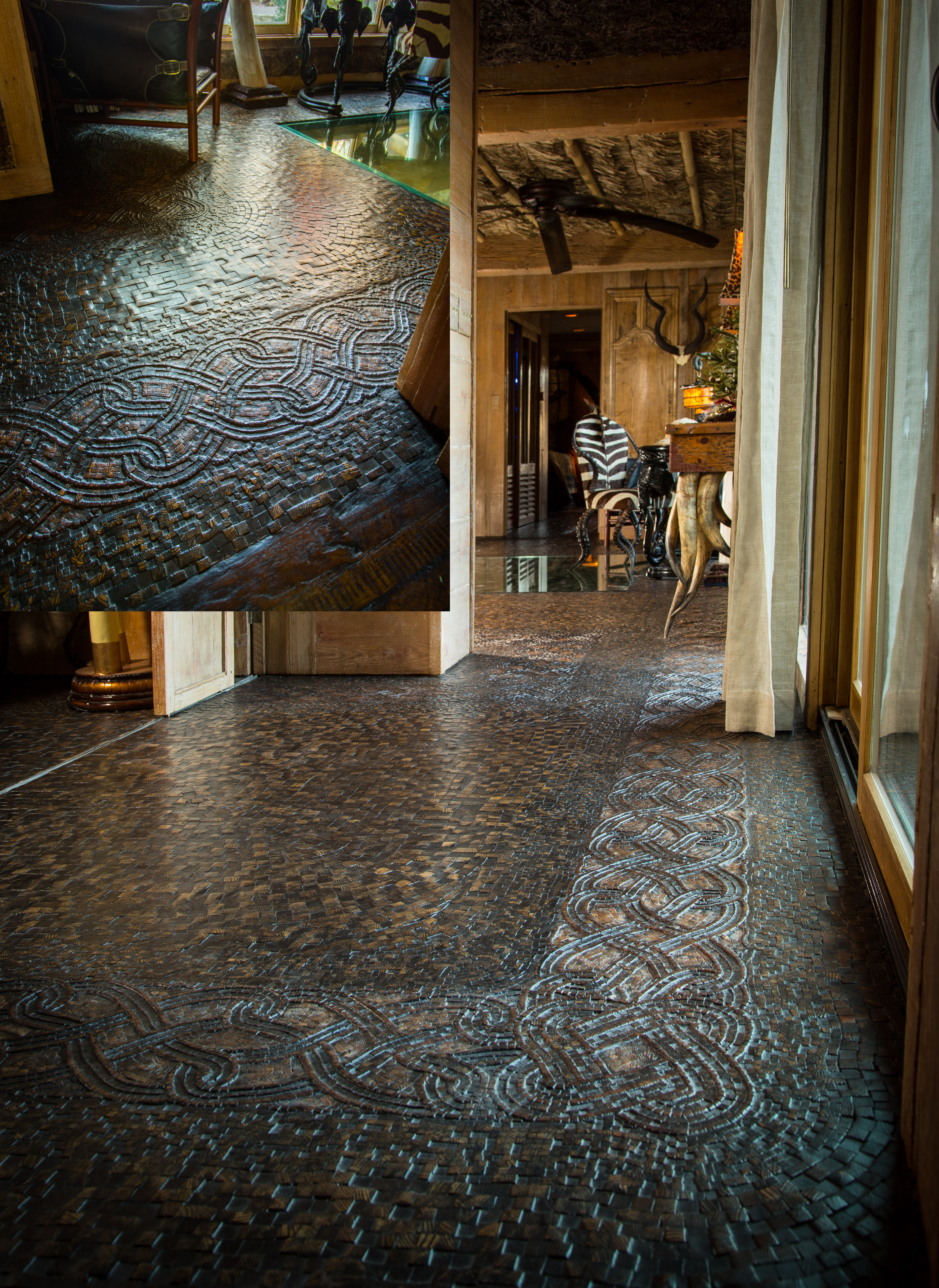 Stunning Mosaic Floor Inside The African Queen An Extravagant Safari Themed Home In Springfield Missouri