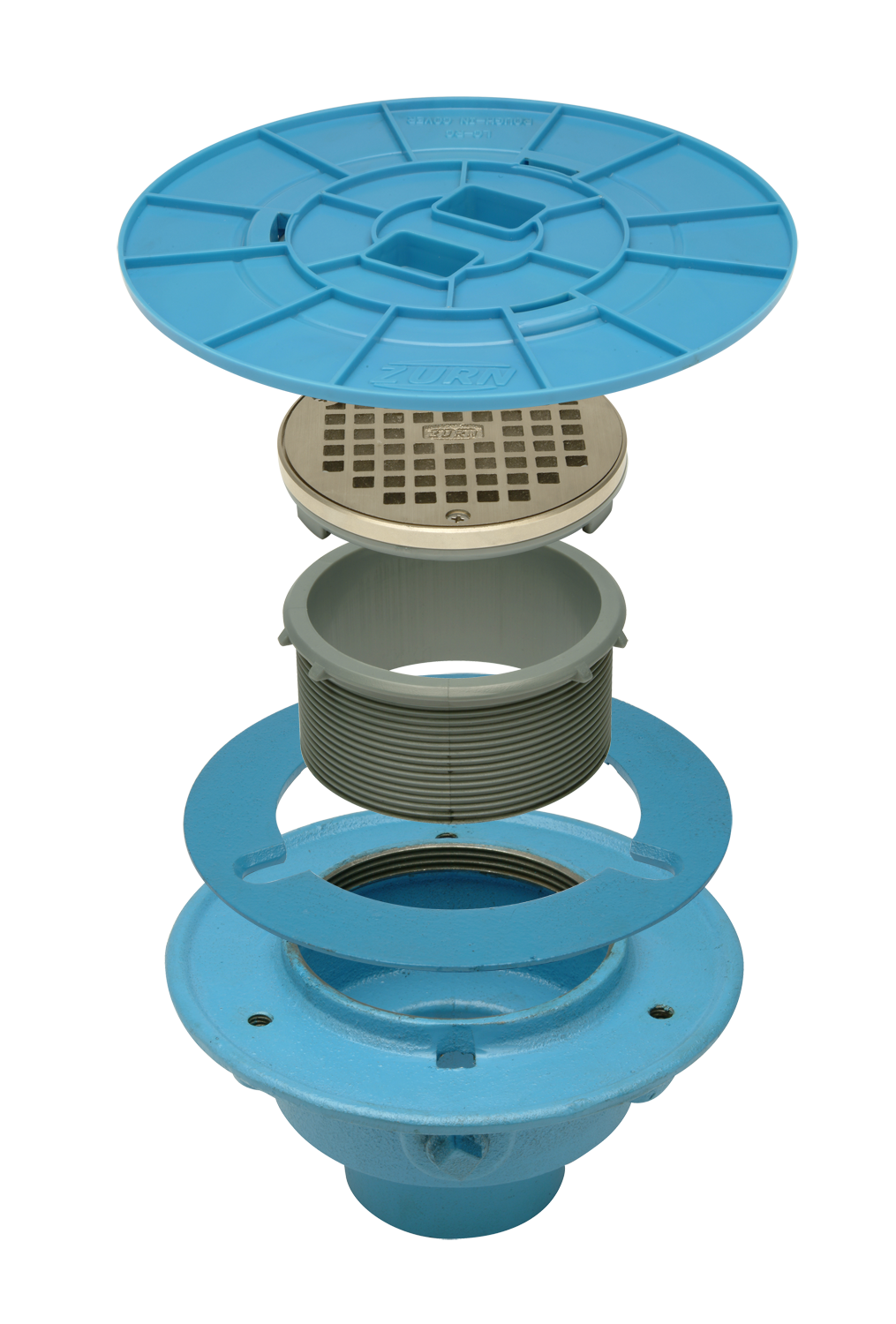 zurn sediment in floor floors bucket shank products drop steel stainless drain strainers for
